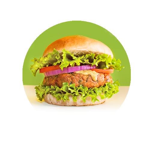 Hamburguesa de verduras 100%